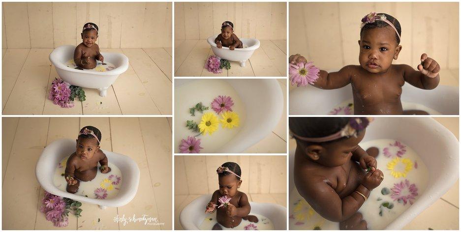 First Birthday Milk Bath Photo Session | www.shirlyschvartzman.com