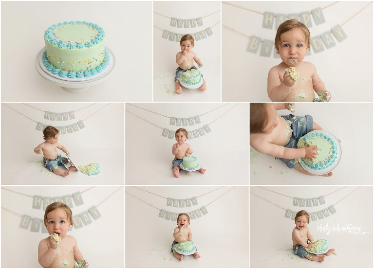 Excellent First Birthday Cake Smash Session Park Slope Brooklyn Isaac Personalised Birthday Cards Veneteletsinfo