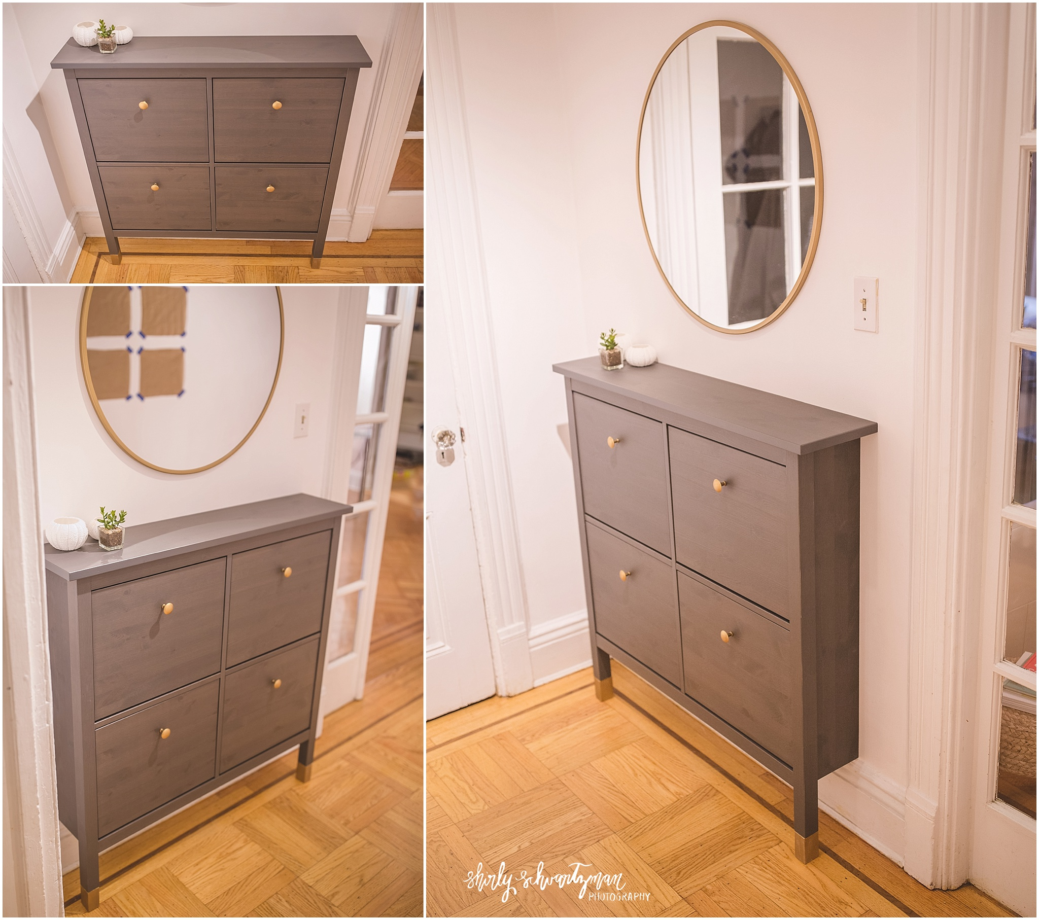Shoe Organization Hacks: Ikea Hack Hemnes Shoe Cabinet Storage For Tall Baseboards